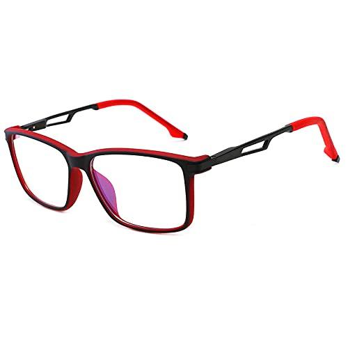LSJA0 gafas luz azul transparente Ayuda a la fatiga anti-UV Tablet Tablet Eye-rojo