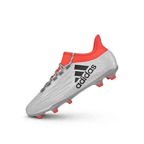 adidas X 16.2 FG, Scarpe da Calcio Uomo, Plateado (Plamet/Negbas/Rojsol), 42 2/3 EU