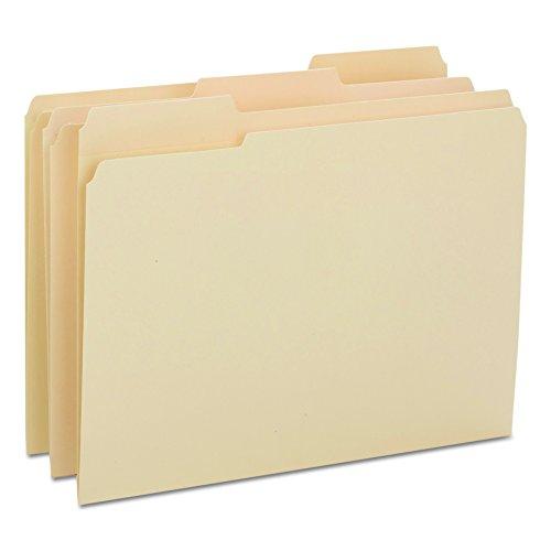 Smead Heavyweight File Folder, Reinforced 1/3-Cut Tab, Letter Size, Manila, 100 Per Box (10434)