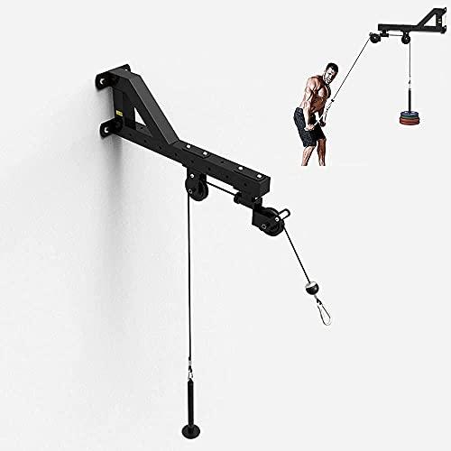 Entrenador de pulseras en el sistema de poleas de cable de pared del antebrazo para bajar la máquina de la unidad del equipo de administración del gimnasio para el bíceps el tríceps le-Polea giratoria