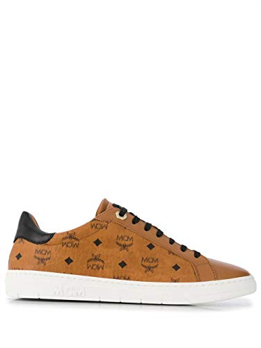 MCM Luxury Fashion Damen MESAAMM17CO Braun Leder Sneakers | Herbst Winter 20