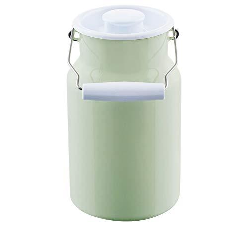 Riess, 0311-006, Milchkanne mit Deckel 2,00 L, CLASSIC - BUNT/PASTELL, Farbe Nilgrün, Durchmesser 13 cm, Höhe 23,2 cm, Inhalt 2,0 Liter, Emaille