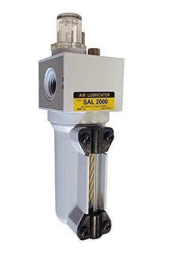 PneumaticPlus SAL2000M-N02B-MEP Miniature Compressed Air Lubricator 1/4' NPT - Metal Bowl, Bracket