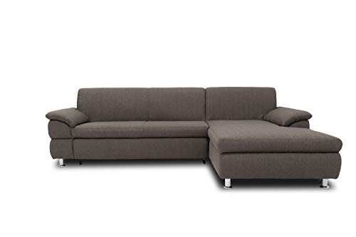 DOMO. collection Bounty Ecksofa L-Form Eckcouch, Wohnlandschaft Polsterecke Sofa Garnitur, anthrazit, 266/172/82 cm