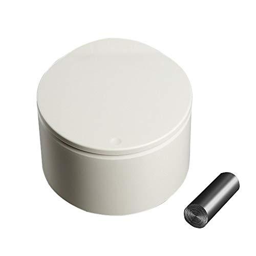 Encimera Papelera de Escritorio, Encimera Papelera Escritorio con Tapa, Encimera Cubo de Basura, Mini Cubo Basura Plástico, para el Hogar Cocina Sala Estar Dormitorio Baño Oficina Papelera (Caqui)