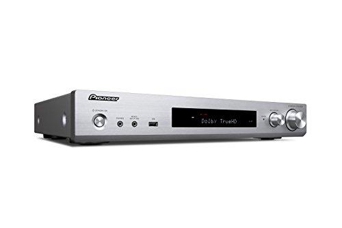 Pioneer 5.1 Kanal AV Receiver, VSX-S520-S, Hifi Verstärker 80 Watt/Kanal, Multiroom, WLAN, Bluetooth, Hi-Res Audio, Streaming, Dolby TrueHD/DTS-HD, Musik Apps (Spotify, Tidal, Deezer), Silber
