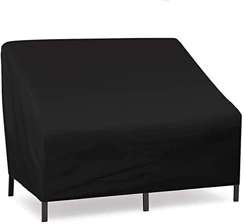 2-Sitzer Bank Schutzhülle-haltbare 210D Oxford Material wasserdichte Gartenbankabdeckung + PVC-Beschichtung, -Gartenbank Schutzhülle Gartenbank (2-Sitzer)