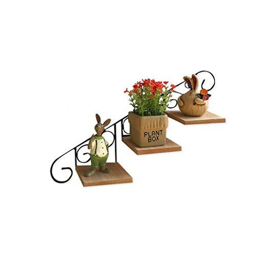 LBBGM Soporte para Plantas de Hierro Forjado Escalera de Flores de 3 Niveles Estantes para macetas de Pared Exhibición de jardín Interior al Aire Libre (Color: B)