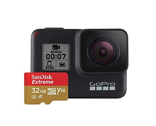 Câmera, GoPro, HERO7 Black Specialty, com Cartão de 32 GB, Sandisk Extreme, Preto