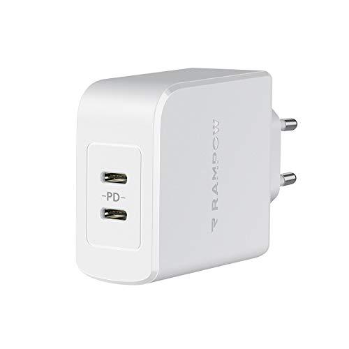 RAMPOW Cargador USB 45 W USB C blanco