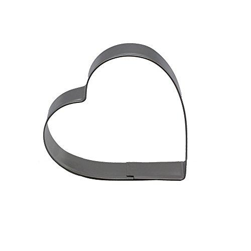 DeColorDulce cœur Moule Biscuit, Acier Inoxydable, Argent, 13 x 10 x 3 cm