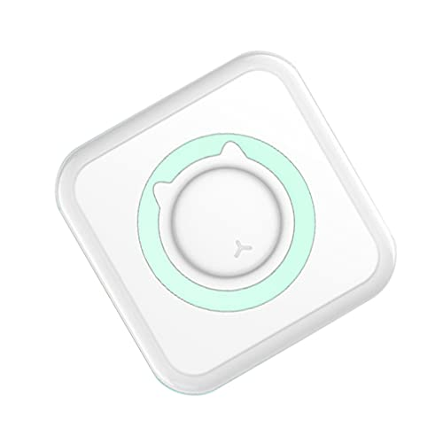NUOBESTY Mini Smartphone Label Maker Estudiantes Inalámbricos Impresora de Documento Impresora de Etiqueta de Mano Verde