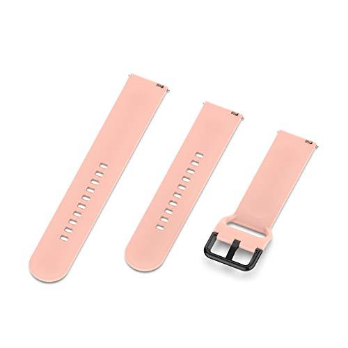 YOKING - Correa de silicona para reloj Gal-axy Watch Active R500 de 20 mm, pulsera para hombre, pulsera para mujer, accesorios para reloj inteligente