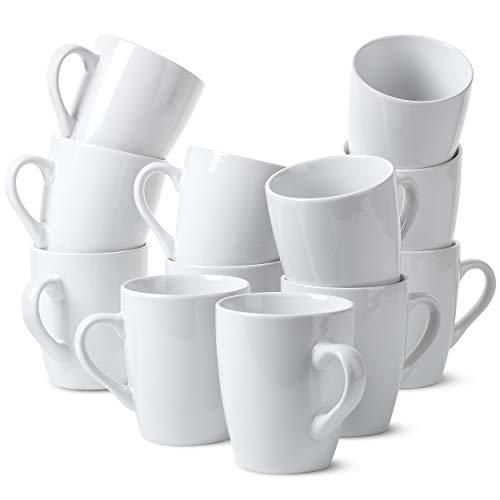 BTaT- White Coffee Mugs, Set of 12, 12oz, Coffee Mug Set, Christmas Coffee Mugs, Hot Chocolate Mugs,...