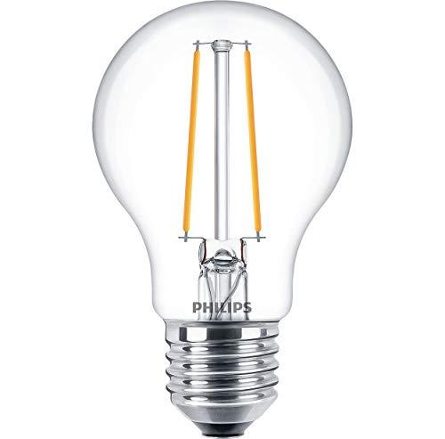 Philips Lámpara LED filamento de 5,5W regulable bombilla E27Forma de la bombilla