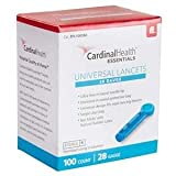 Cardinal Health Universal Safety Seal Lancets, 28G - 100/bx
