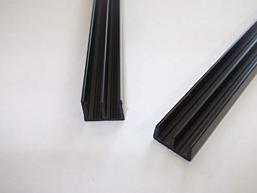 Glasschienen für Vivarium, 6 mm, Schwarz, 1 Paar