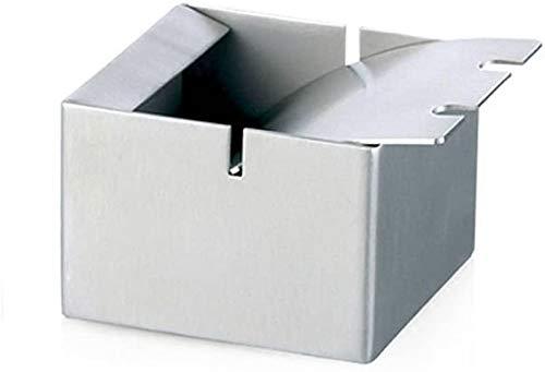 Cenicero resistente al viento con ceniza de acero inoxidable de cubierta,A