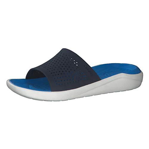 Crocs Literide Slide, Sandali a Punta Aperta Unisex-Adulto, Blu (Navy/White 462), 41/42 EU