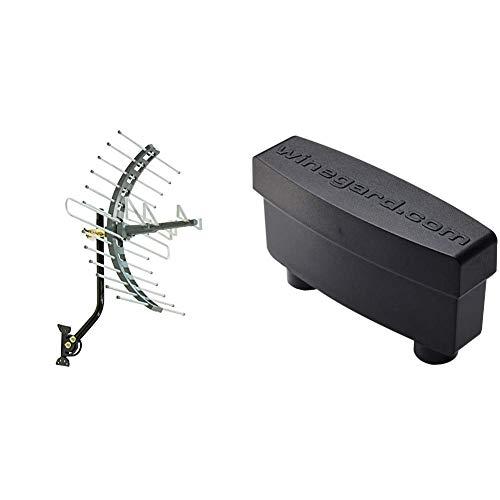 GE Pro Attic Mount TV Antenna, Outdoor, Attic, Long Range Antenna, Digital, HDTV Antenna, 4K 1080P VHF UHF & Winegard LNA-200 Boost XT HDTV Preamplifier, TV Antenna Amplifier Signal Booster