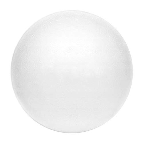 Netuno 5 Stück Styroporkugel Styroporball Polystyrol-Ball weiß 12 cm Durchmesser zum Basteln für Hobby Kunst Schule Dekoration Weihnachtskugeln