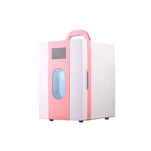 CNDY Kühlschrank Mini, Mini-Gefrierschrank, Kleiner Kühlschrank Kühlschrank, Essen, Getränke, Wein, Leichtgewicht, Kompakt, Pink-10L
