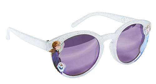 Gafas de sol con purpurina para niña, diseño de Frozen, color gris claro, talla única (3 a 8 años)