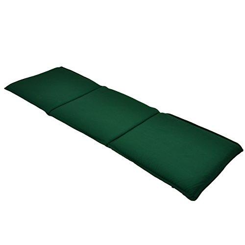 Nexos Bank-Auflage Sitz-Polster Park- & Gartenbank 146cm 3-Sitzer hochwertig grün