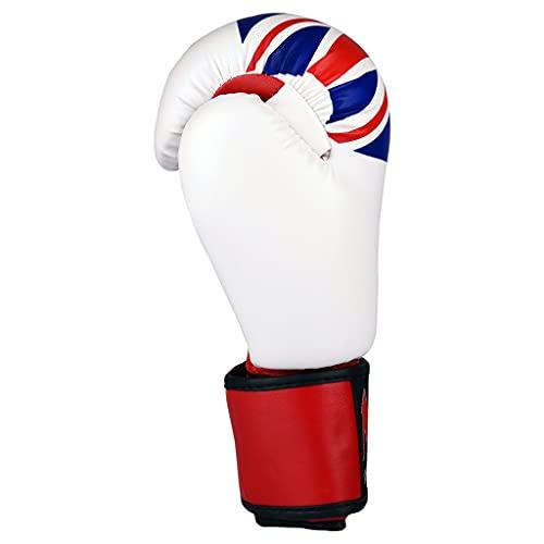 M.A.R International Ltd. Boxing & Kickboxing Gloves With Union Jack 14oz White