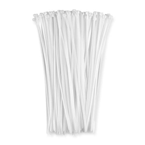 "11"" White 50lb (1,000 Pack) Zip Ties, Choose Size/Color, By Bolt Dropper"