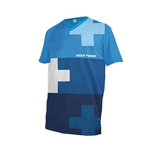 UGLY FROG Element Herren Streifen Design MX Motocross/Downhill Jersey Trikot Shirt Enduro Offroad Motorrad Erwachsene Motorräder Zubehör Kurz/Lang Ärmel