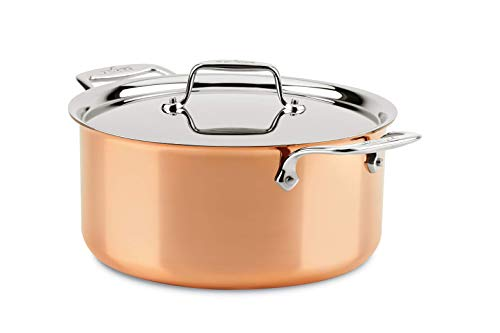 All-Clad Copper C4508 C4 8 Qt. Stockpot with Lid, Cookware