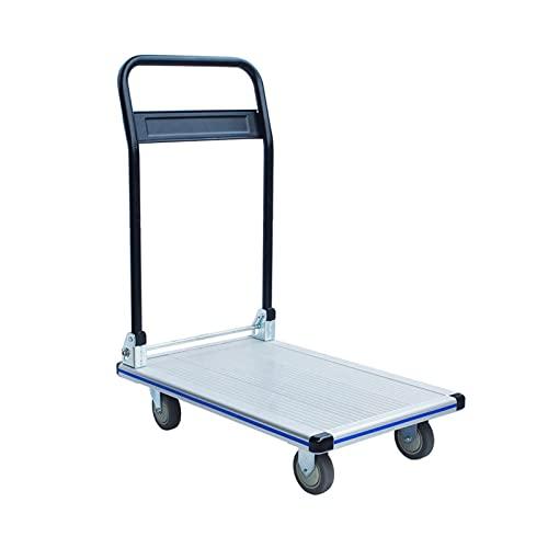 ZHI-Trolley Carro Plano de la Oficina, Carro pequeño del Equipaje del Remolque del Hotel Que maneja el tamaño 74 * 47.5 * 25CM (Tamaño : 74 * 47.5 * 25CM)