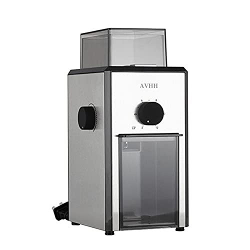 AVHH Electric Coffee Grinders, Large Hopper, Easy One Touch Operation, Easy Cleaning and Hardened Gears