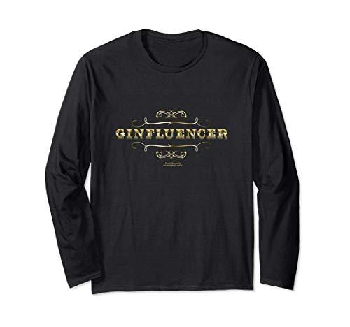 Gin Influencer Ginfluencer für Fans von Botanicals & Gin Langarmshirt