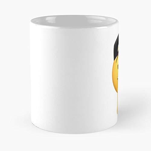 Fuckboy Emoji Meme HD – La taza se adapta a la mano – 11 oz de mármol blanco impreso en cerámica, diseño de tendencia que Je personalize