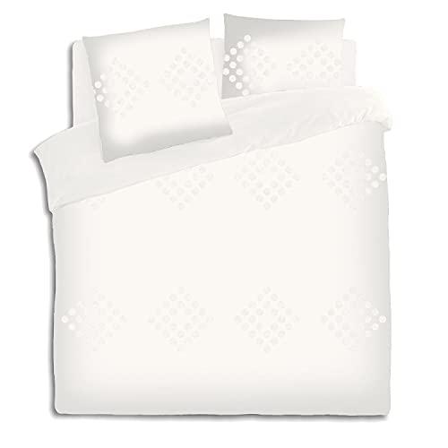 Atmosphera - Juego de cama para cama de matrimonio, 260 x 240 cm, funda de edredón y 2 fundas de...