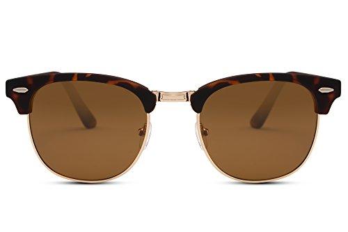Cheapass Gafas de Sol Marrón Gafas Plegables UV400 Vintage Viajar Hombre Mujer