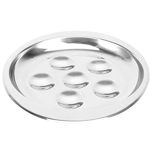 BESTonZON Schneckenschale Schneckenplatte Edelstahl Schnecke Schneckenplatte Pilzplatte mit 6 Fachlöchern für Die Küche zu Hause Restaurant Hotel