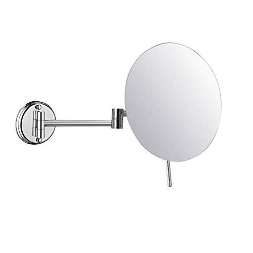 MRJ Kosmetikspiegel Wandmontage 3-Fache Vergrößerung aus Kristallglas, Edelstahl und Messing schminkspiegel für Badezimmer, Kosmetikstudio, Spa und Hotel Silber Farbe