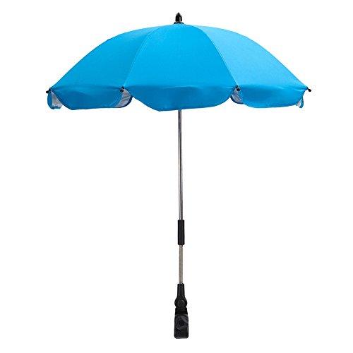 Modelshow Baby zon schaduw wandelwagen Pram Paraplu Zilver Plastic Pushchair paraplu's beschermen baby kinderen tegen zon en UV in vier seizoenen Lichtblauw