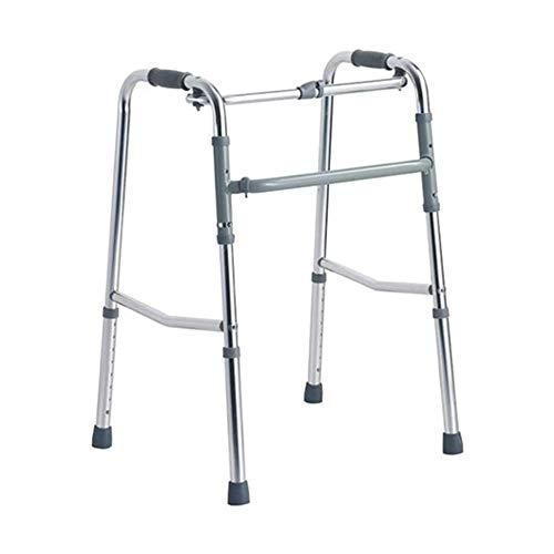 Andadores para discapacidad Andador para Ancianos Caminar de Goma Plegable Resistente al Deslizamiento Ayuda Walker Antideslizante bastón con el Hospital