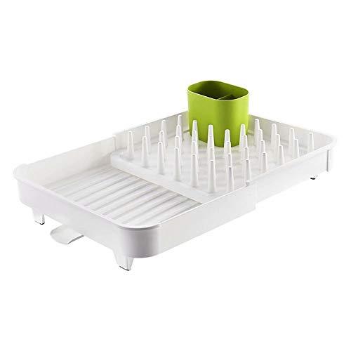 THMY Rejilla para secar vajillas, Platos y biberones Ajustables de Cocina (Verde)