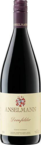 6 x Dornfelder 1l mild 2019 Weingut Anselmann, milder Rotwein aus der Pfalz