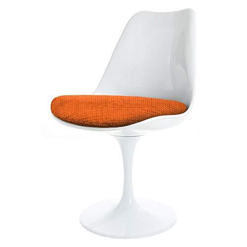 Eero Saarinen Chaise Tulipe Orange Blanc et texturŽ Style