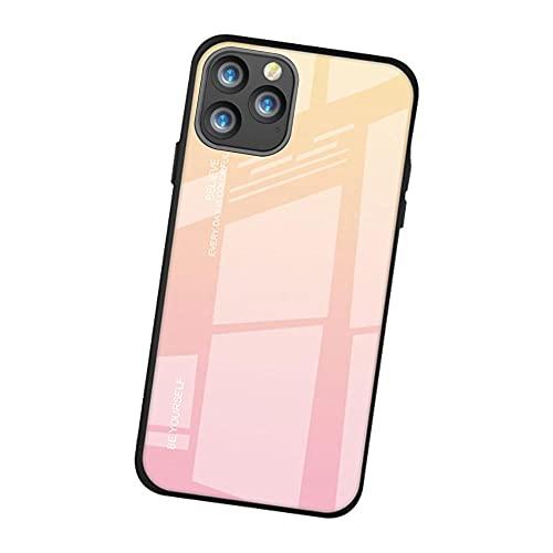 Oihxse Degradado Colorido Phone Funda Compatible con Samsung Galaxy S8, Contraportada de Vidrio Templado + Marco de TPU Suave, Gradiente Anti-Arañazos Anti-Arañazos Carcasas