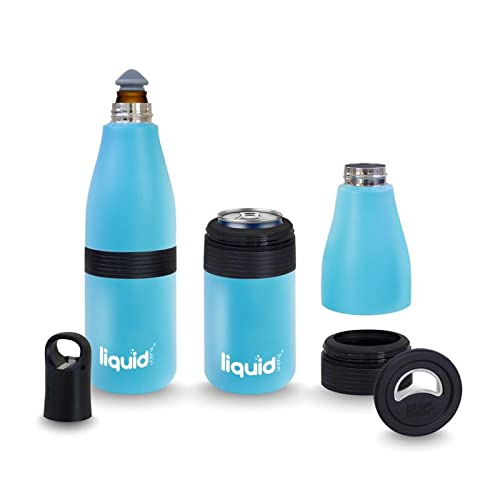 Grand Fusion Housewares Icy Bev Insulated Bottle Cozy Can Cooler for...