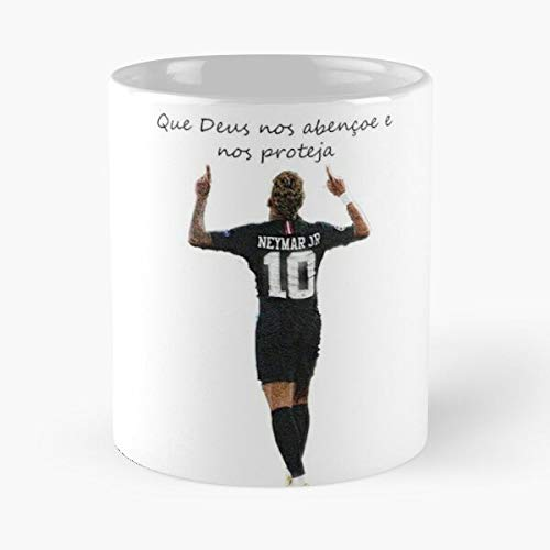 Neymar – Psg That Deus Our Abençoe E Proteja Classic Tasse, 275 ml, Coffee Funny Sophisticated Design Great Gifts White-Miinviet.