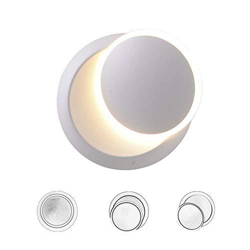 5W Aplique De Pared LED Lámpara De Pared DIY Luz Puede Girar Giratorio De 350 °, Apliques Pared Interior Para Dormitorio Habitación Restaurante Escaleras Balcón Hotel, Blanco Cálido (Blanco)