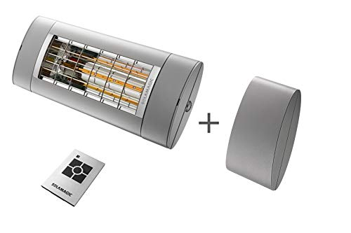Solamagic | Infrarotstrahler S1+ ARC | 2000 Watt | inklusive Funk – Dimm Modul | plus Funk - Fernbedienung (titan)
